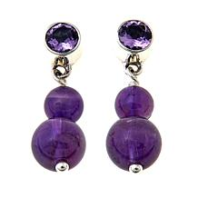 Nicky Butler Gemstone  Double Bead Drop Earrings