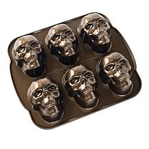 Nordic Ware Cast Aluminum Haunted Skull Cakelet Pan