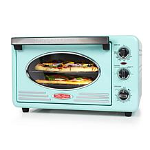 Nostalgia Retro 12-Slice Convection Toaster Oven in Aqua
