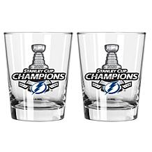 Officially Licensed 15oz Old Fashion Stanley Cup Champ Glasses - Tampa