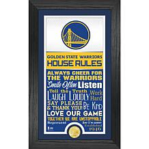 Officially Licensed Golden State Warriors House Rules Coin Photo Mint