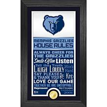 Officially Licensed Memphis Grizzlies House Rules Coin Photo Mint