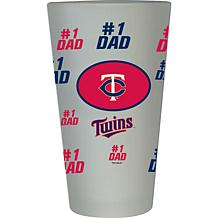 """Officially Licensed MLB """"#1 Dad"""" Frosted Pint Glass - Twins"""