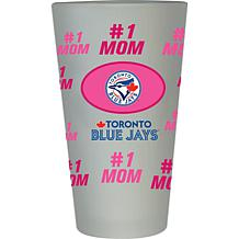 "Officially Licensed MLB ""#1 Mom"" Frosted Pint Glass - Blue Jays"