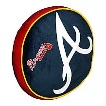 """Officially Licensed MLB 148 Travel Cloud 15"""" Pillow - Braves"""