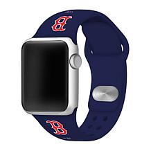 Officially Licensed MLB 38mm/40mm Silicone Apple Watchband - Red Sox