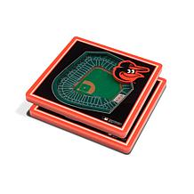 Officially Licensed MLB 3D StadiumViews Coaster Set- Baltimore Orioles