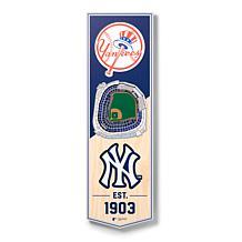 """Officially Licensed MLB 6"""" x 19"""" 3D Stadium Banner - New York Yankees"""