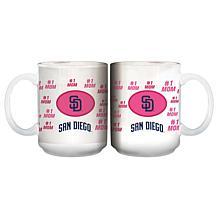 """Officially Licensed MLB """"Mom"""" White Mug - Padres"""