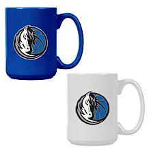 Officially Licensed NBA  15 oz. Team Colored Mug Set - Mavericks