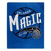 Officially Licensed NBA Black Top Raschel Throw Blanket - Magic