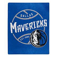 Officially Licensed NBA Black Top Raschel Throw - Mavericks