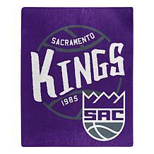 Officially Licensed NBA Black Top Raschel Throw - Sacramento Kings