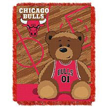 """Officially Licensed NBA Bulls """"Half-Court"""" Baby Woven Jacquard Throw"""