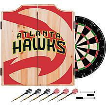 Officially Licensed NBA Dart Cabinet Set  - Atlanta Hawks