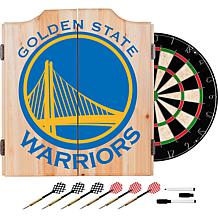 Officially Licensed NBA Dart Cabinet Set- Fade - Golden State Warri...