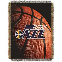 """Officially Licensed NBA """"Photo Real"""" Woven Tapestry Throw - Jazz"""
