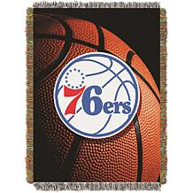 """Officially Licensed NBA """"Photo Real"""" Woven Tapestry Throw - 76ers"""