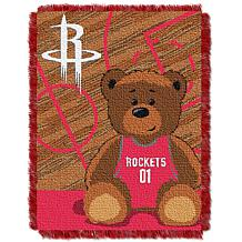 """Officially Licensed NBA Rockets """"Half-Court"""" Baby Woven Jacquard Throw"""
