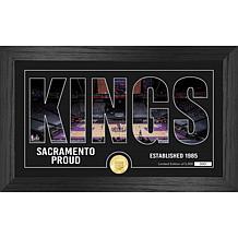 Officially Licensed NBA Silhouette Bronze Coin Photo Mint - Sacramento