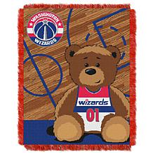 """Officially Licensed NBA Wizards """"Half-Court"""" Baby Woven Jacquard Throw"""