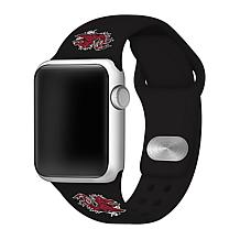 Officially Licensed NCAA Black 42/44MM Apple Watch Band - SC Gamecocks