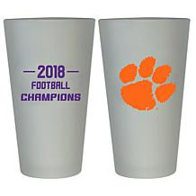 Officially licensed NCAA Clemson 2018 Champs 16 oz. Pint Glass - 2pk