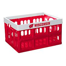 Officially Licensed NCAA Collapsible Crate - Wisconsin