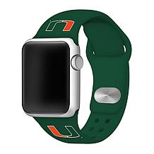 Officially Licensed NCAA Green 42/44MM Apple Watch Band - Miami