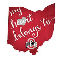 "Officially Licensed NCAA ""My Heart Belongs to"" Sign"