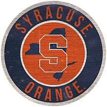 """Officially Licensed NCAA Syracuse 12"""" Wood Circle"""