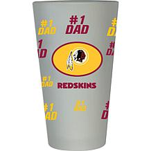 "Officially Licensed NFL ""#1 Dad"" 16 oz. Frosted Pint Glass -  Redskins"