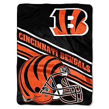 "Officially Licensed NFL 60"" x 80"" Slant Raschel Throw"