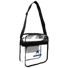 Officially Licensed NFL Clear Carryall Crossbody - Cowboys