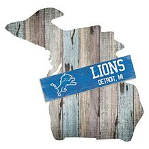Officially Licensed NFL Distressed State with Team Plank