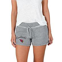 Officially Licensed NFL Mainstream Ladies Knit Shorts - Cardinals