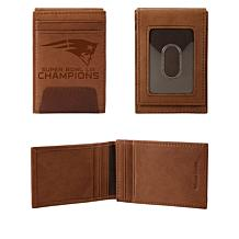 Officially Licensed NFL Super Bowl LIII Champions Front Pocket Wallet
