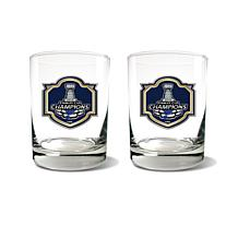 Officially Licensed NHL 2019 Champs Rocks Glass Set