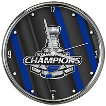 Officially Licensed NHL 2019 Stanley Cup Champion Chrome Clock