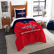 Officially Licensed NHL Draft Twin Comforter Set - Capitals