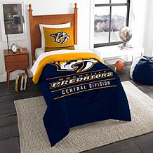 Officially Licensed NHL Draft Twin Comforter Set - Predators