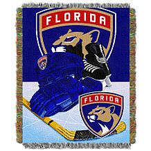 Officially Licensed NHL Panthers Home Ice Advantage Tapestry Throw