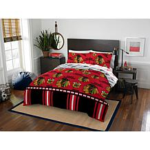 Officially Licensed NHL Queen Bed in a Bag Set - Chicago Blackhawks