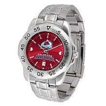Officially Licensed NHL Sport Steel Series Watch - Colorado Avalanche