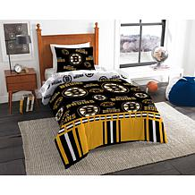 Officially Licensed NHL Twin Bed In a Bag Set - Boston Bruins