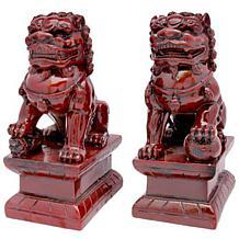 """Oriental Furniture 6"""" Fu Dog Statues"""
