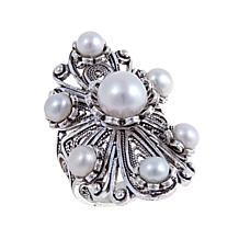 Ottoman Jewelry Cultured Freshwater Floral Ring
