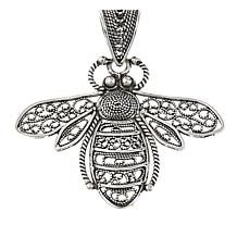 Ottoman Jewelry Sterling Silver Filigree Bee Pendant