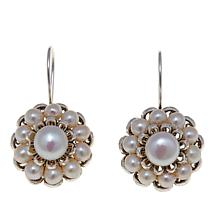 "Ottoman Silver Freshwater Pearl ""Flower"" Earrings"