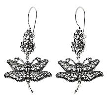 Ottoman Silver Jewelry Collection Dragonfly Filigree Drop Earrings